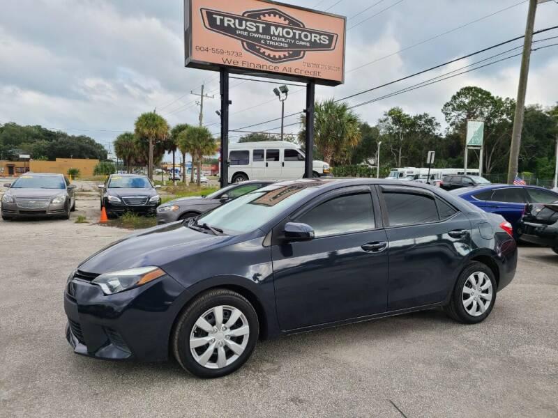 2014 Toyota Corolla for sale at Trust Motors in Jacksonville FL