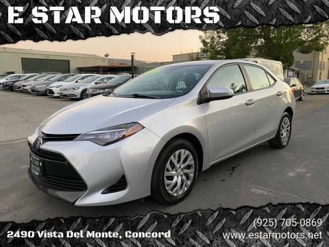 2017 Toyota Corolla for sale at E STAR MOTORS in Concord CA