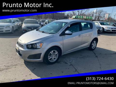 2012 Chevrolet Sonic for sale at Prunto Motor Inc. in Dearborn MI