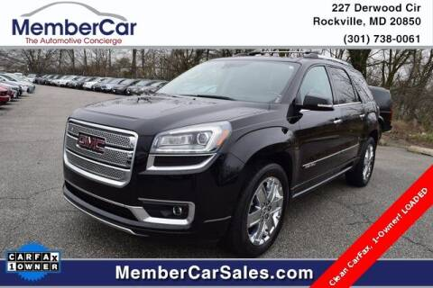 2016 GMC Acadia for sale at MemberCar in Rockville MD
