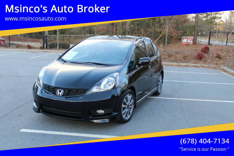 2012 Honda Fit for sale at Msinco's Auto Broker in Snellville GA
