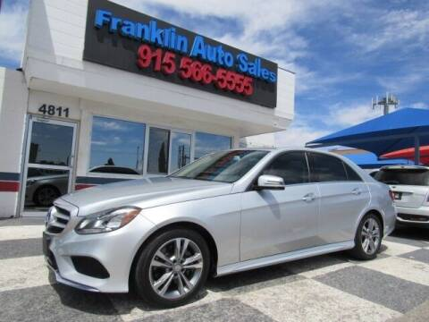 2014 Mercedes-Benz E-Class for sale at Franklin Auto Sales in El Paso TX