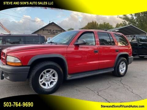 2003 Dodge Durango for sale at Steve & Sons Auto Sales in Happy Valley OR