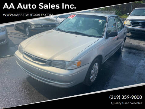 1999 Toyota Corolla for sale at AA Auto Sales Inc. in Gary IN