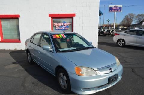 2003 Honda Civic for sale at CARGILL U DRIVE USED CARS in Twin Falls ID