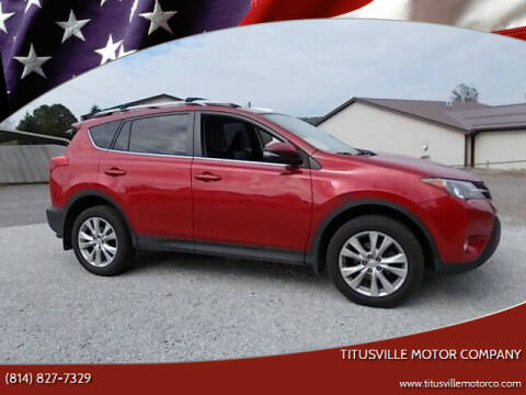 2015 Toyota RAV4 for sale at Titusville Motor Company in Titusville PA