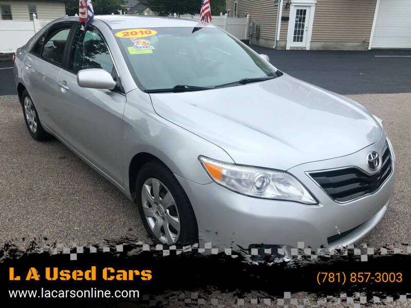 2010 Toyota Camry for sale at L A Used Cars in Abington MA