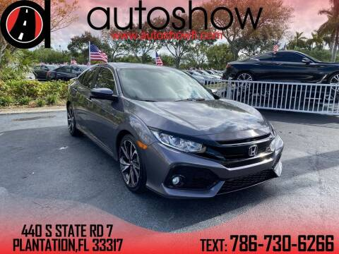 2018 Honda Civic for sale at AUTOSHOW SALES & SERVICE in Plantation FL