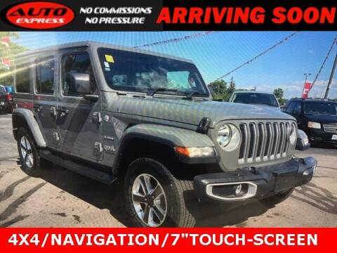 2021 Jeep Wrangler Unlimited for sale at Auto Express in Lafayette IN