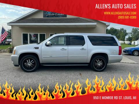 2013 Cadillac Escalade ESV for sale at Allen's Auto Sales in Saint Louis MI