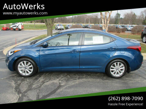 2015 Hyundai Elantra for sale at AutoWerks in Sturtevant WI