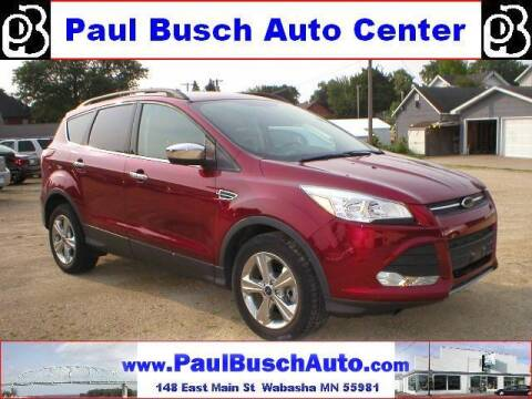 2015 Ford Escape for sale at Paul Busch Auto Center Inc in Wabasha MN