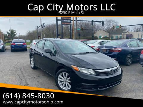 2012 Honda Civic for sale at Cap City Motors LLC in Columbus OH