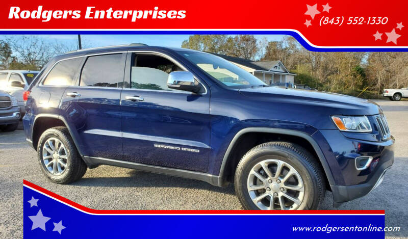 2014 Jeep Grand Cherokee for sale at Rodgers Wranglers in North Charleston SC