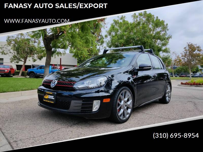 2013 Volkswagen GTI for sale at FANASY AUTO SALES/EXPORT in Yorba Linda CA