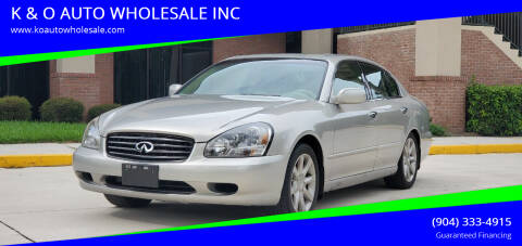 2002 Infiniti Q45 for sale at K & O AUTO WHOLESALE INC in Jacksonville FL