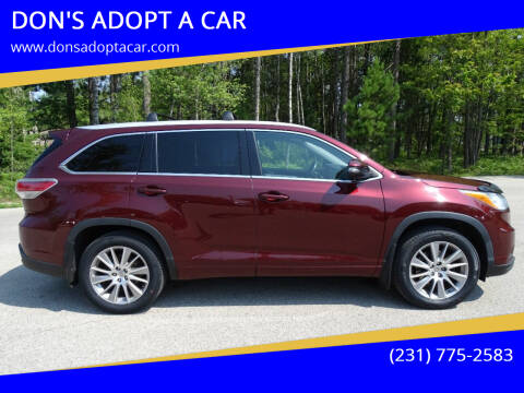 2014 Toyota Highlander for sale at DON'S ADOPT A CAR in Cadillac MI