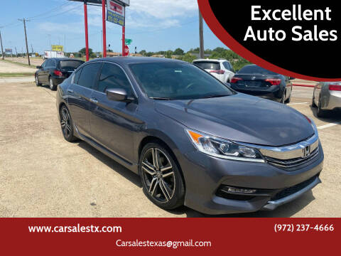 2017 Honda Accord for sale at Excellent Auto Sales in Grand Prairie TX