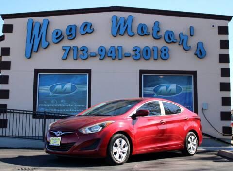 2016 Hyundai Elantra for sale at MEGA MOTORS in South Houston TX