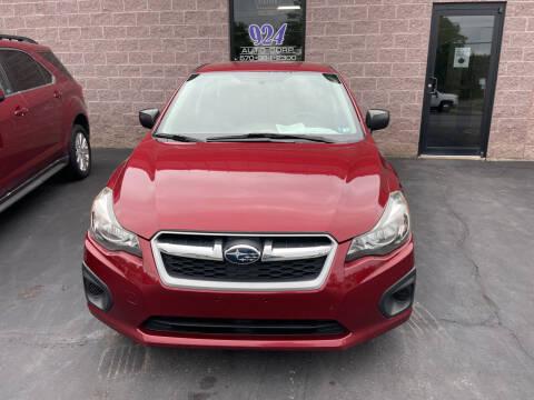 2013 Subaru Impreza for sale at 924 Auto Corp in Sheppton PA