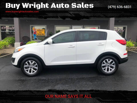 2016 Kia Sportage for sale at Buy Wright Auto Sales in Rogers AR