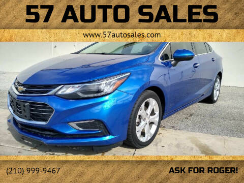 2017 Chevrolet Cruze for sale at 57 Auto Sales in San Antonio TX