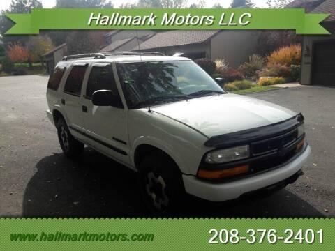 2002 Chevrolet Blazer for sale at HALLMARK MOTORS LLC in Boise ID
