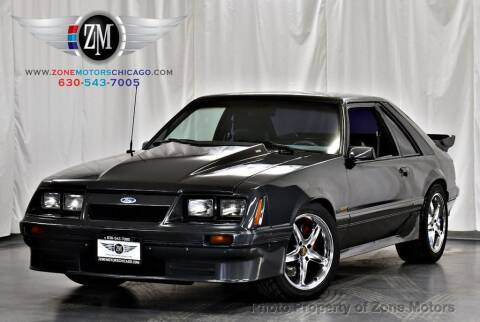 1986 Ford Mustang for sale at ZONE MOTORS in Addison IL