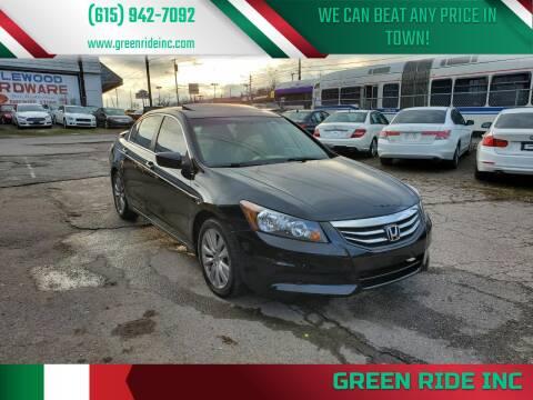 2012 Honda Accord for sale at Green Ride Inc in Nashville TN