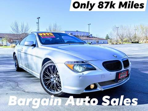 2004 BMW 6 Series for sale at Bargain Auto Sales LLC in Garden City ID