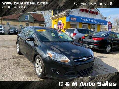 2014 Ford Focus for sale at C & M Auto Sales in Detroit MI