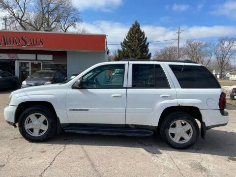 2002 Chevrolet TrailBlazer for sale at RIVERSIDE AUTO SALES in Sioux City IA