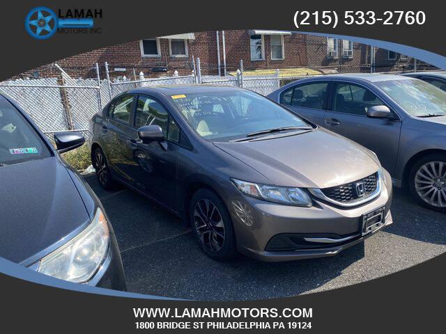 2014 Honda Civic for sale at LAMAH MOTORS INC in Philadelphia PA