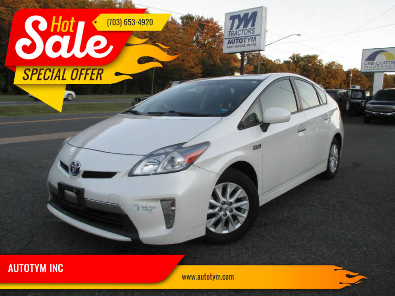 2012 Toyota Prius Plug-in Hybrid for sale at AUTOTYM INC in Fredericksburg VA