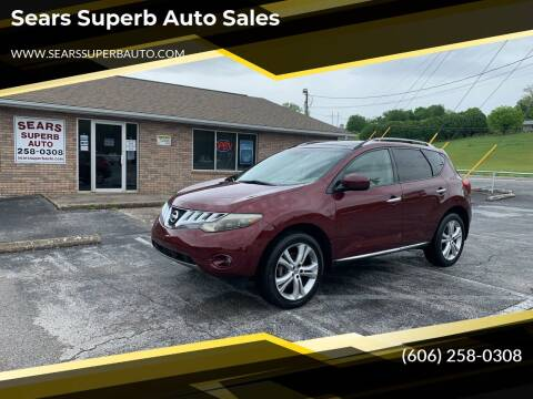 2010 Nissan Murano for sale at Sears Superb Auto Sales in Corbin KY