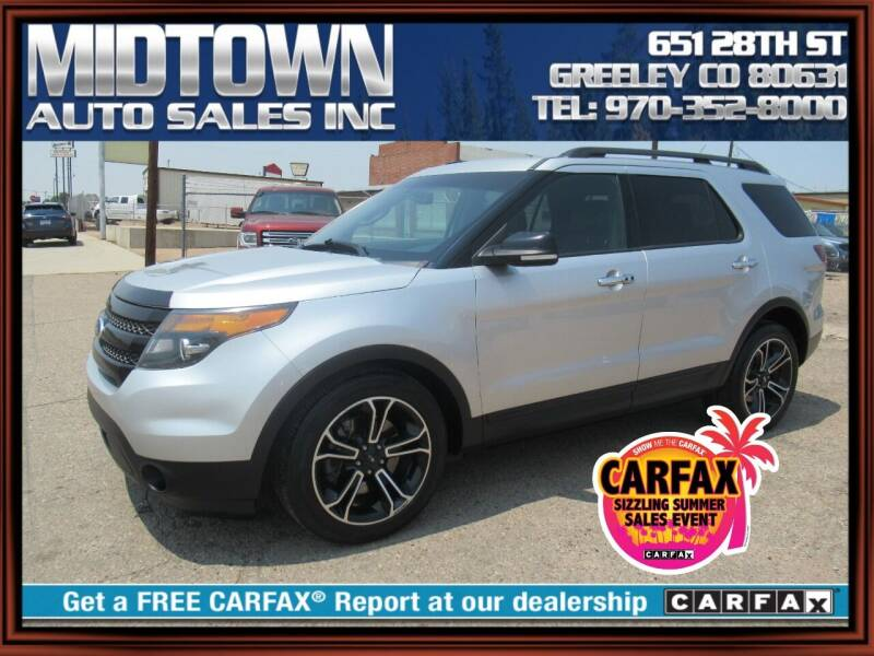 2013 Ford Explorer for sale at MIDTOWN AUTO SALES INC in Greeley CO