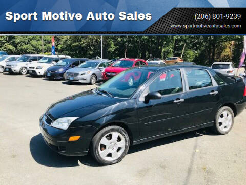 2007 Ford Focus for sale at Sport Motive Auto Sales in Seattle WA