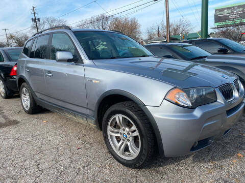 2006 BMW X3 for sale at GREENLIGHT AUTO SALES in Akron OH