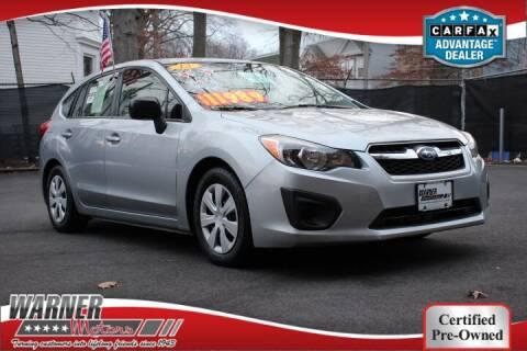 2013 Subaru Impreza for sale at Warner Motors in East Orange NJ