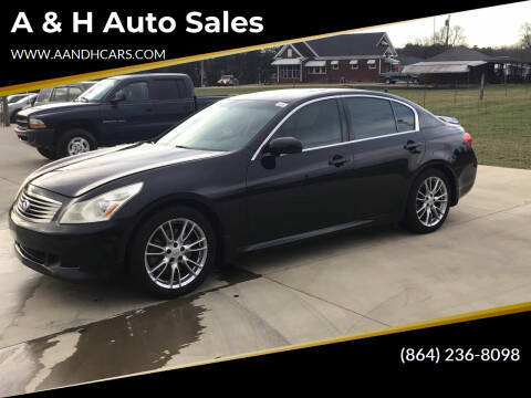2007 Infiniti G35 for sale at A & H Auto Sales in Greenville SC