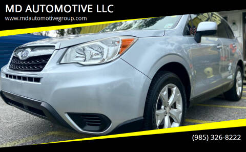 2015 Subaru Forester for sale at MD AUTOMOTIVE LLC in Slidell LA