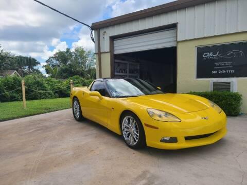 2009 Chevrolet Corvette for sale at O & J Auto Sales in Royal Palm Beach FL