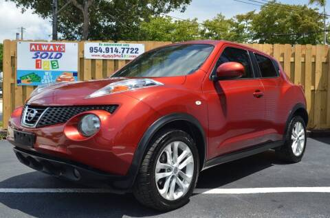 2013 Nissan JUKE for sale at ALWAYSSOLD123 INC in Fort Lauderdale FL