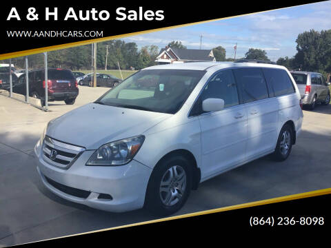 2007 Honda Odyssey for sale at A & H Auto Sales in Greenville SC