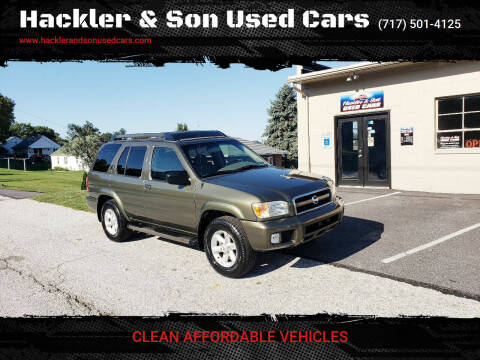 2004 Nissan Pathfinder for sale at Hackler & Son Used Cars in Red Lion PA