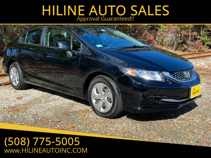 2013 Honda Civic for sale at HILINE AUTO SALES in Hyannis MA