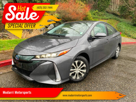 2017 Toyota Prius Prime for sale at Mudarri Motorsports in Kirkland WA