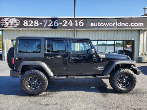 2015 Jeep Wrangler Unlimited for sale at AutoWorld of Lenoir in Lenoir NC