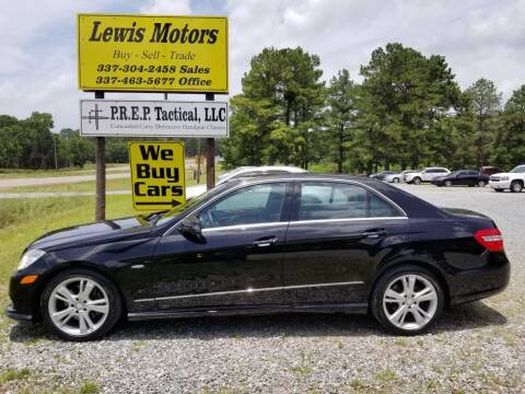 2012 Mercedes-Benz E-Class for sale at Lewis Motors LLC in Deridder LA