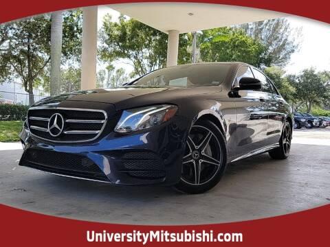 2018 Mercedes-Benz E-Class for sale at University Mitsubishi in Davie FL